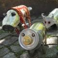 Recyclingkunst: Dosen-Schweine
