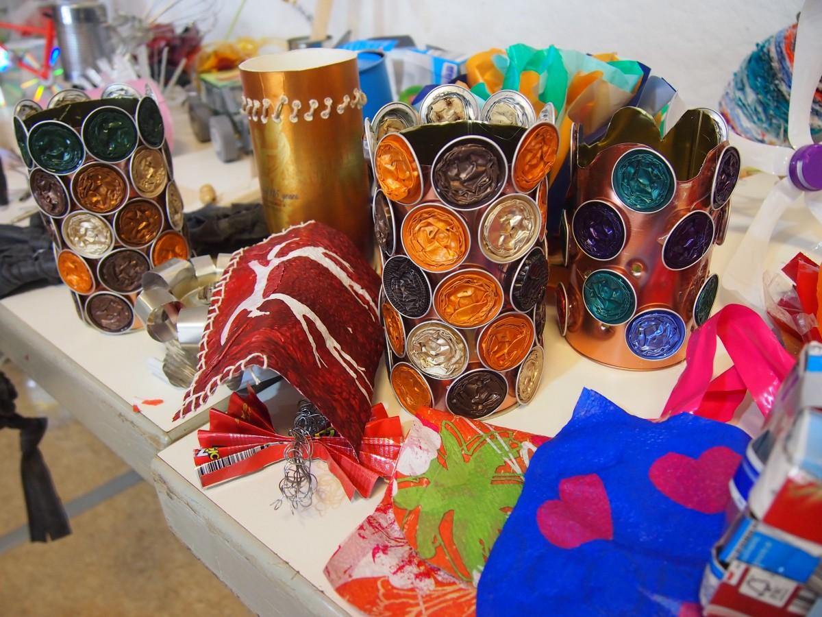 Die Recycling-Kunstwerkstatt: Alte Sachen, um was draus zu machen!