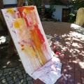 Krippenatelier: Farbe laufen lassen